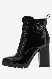 Черные ботинки на каблуке Guess