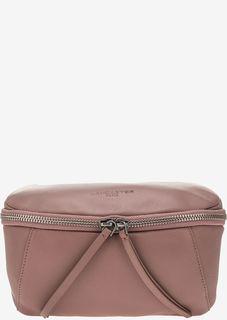 Розовая поясная сумка из натуральной кожи Lancaster