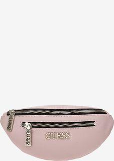 Поясная сумка розового цвета Guess