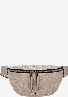 Вместительная поясная сумка с металлическим декором Karl Lagerfeld