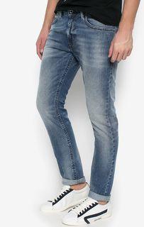 Синие джинсы скинни Diesel