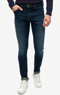 Синие джинсы скинни с карманами Malone Lee