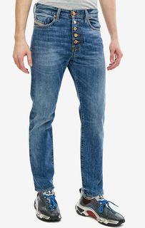 Синие джинсы скинни с декоративными потертостями Mharky-B Diesel