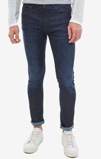 Синие джинсы скинни с карманами Hugo Boss