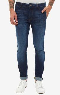 Синие джинсы скинни с низкой посадкой Daniel Guess