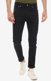 Черные джинсы скинни с низкой посадкой CKJ 016 Calvin Klein Jeans