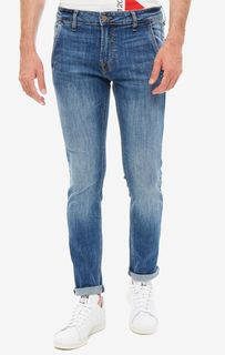 Синие джинсы скинни с низкой посадкой Adam Guess