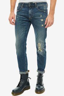 Синие джинсы скинни с декоративными потертостями Thommer Diesel