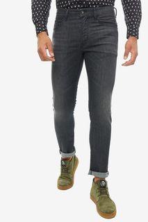 Черные джинсы скинни с декоративными заломами Thommer Diesel