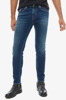 Синие джинсы скинни с декоративными заломами Thommer Diesel