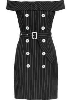 Платье с вырезом кармен Bonprix