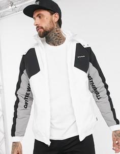 Бело-черная куртка Vans-Белый
