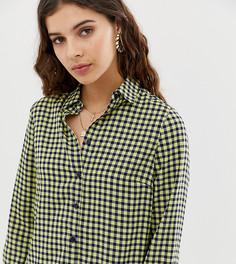 Oversize-рубашка в клетку Glamorous-Темно-синий