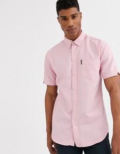 Однотонная оксфордская рубашка с короткими рукавами Ben Sherman-Розовый