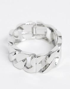 Серебристый массивный браслет-цепочка DesignB-Серебряный