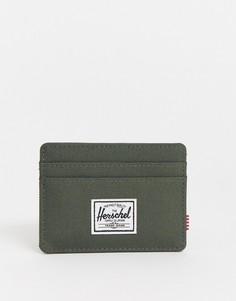 Визитница цвета хаки с защитой от RFID-устройств Herschel Supply Co-Зеленый
