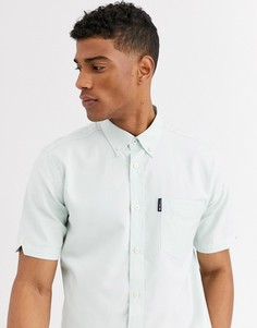 Однотонная оксфордская рубашка с короткими рукавами Ben Sherman-Зеленый