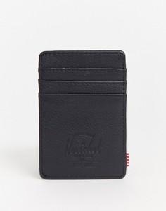 Черная кожаная визитница с защитой от RFID-устройств Herschel Supply Co-Черный