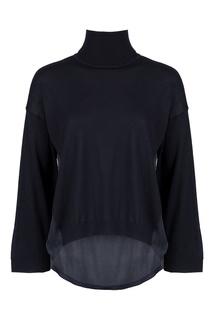 Ассиметричный свитер черного цвета Liu Jo