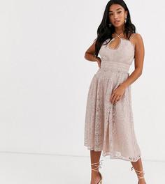 Платье миди для выпускного на бретелях ASOS DESIGN Petite-Мульти