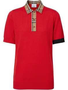 Burberry рубашка-поло в клетку Vintage Check