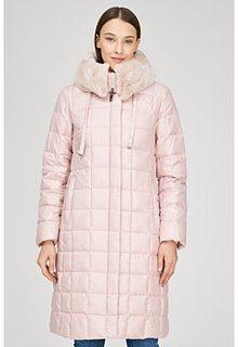 Стеганое пальто с отделкой мехом кролика La Reine Blanche