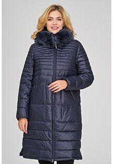 Стеганое пальто с отделкой мехом кролика LE Monique