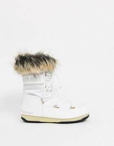 Белые зимние ботинки с искусственным мехом Moon Boot - Monaco-Белый