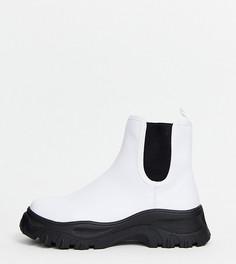 Белые ботинки челси Monki-Черный