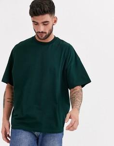 Зеленая oversize-футболка с круглым вырезом ASOS DESIGN-Зеленый