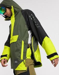 Черно-зеленая куртка ONeill-Черный O`Neill