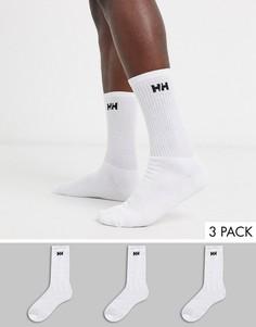 Набор из 3 пар белых носков с логотипом Helly Hansen-Белый