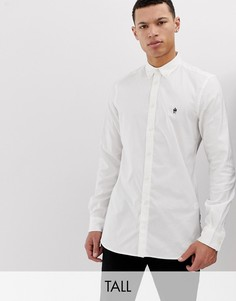 Оксфордская рубашка с длинными рукавами French Connection Tall-Белый