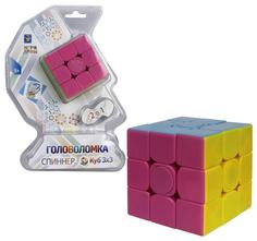 """Головоломка-спиннер 2 в 1 """"Куб 3х3"""", 6 см 1TOY"""