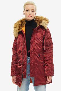 Куртка женская Alpha Industries 113007 бордовая S
