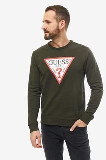Свитшот мужской Guess M94Q24-K7ON0-G8G9 хаки S