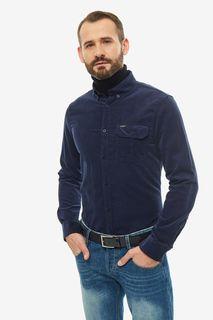 Рубашка мужская Guess M94H40-WC3Z0-G720 синяя 2XL