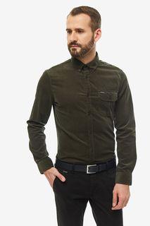 Рубашка мужская Guess M94H40-WC3Z0-G8G9 зеленая 2XL