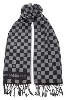Шарф мужской Karl Lagerfeld 805001 592131 960 серый