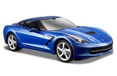 Машинка Maisto 1:18 Chevrolet Corvette Stingray Z51 2014 года, синяя
