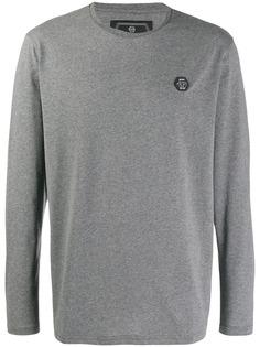 Philipp Plein футболка с длинными рукавами и логотипом