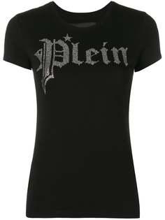 Philipp Plein футболка с декорированным логотипом