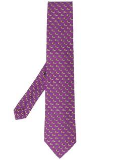 Etro галстук с принтом
