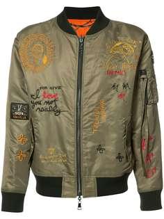 Haculla двухсторонняя куртка бомбер с вышивкой