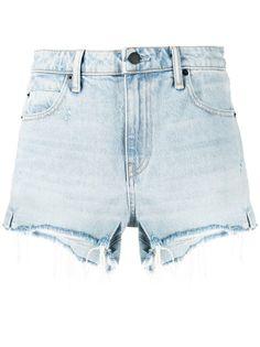 Alexander Wang джинсовые шорты Bite с завышенной талией