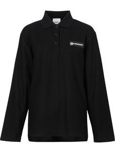 Burberry рубашка-поло со вставкой в клетку Vintage Check