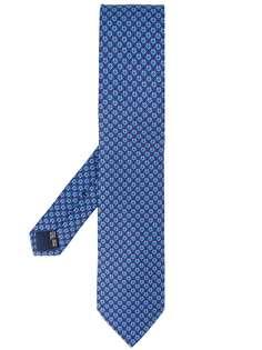 Salvatore Ferragamo галстук с принтом Gancini