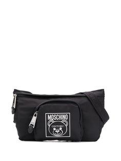 Moschino поясная сумка с логотипом
