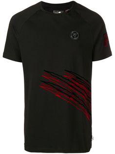 Plein Sport эластичная футболка с принтом