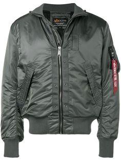 Alpha Industries куртка-бомбер с присборенными рукавами